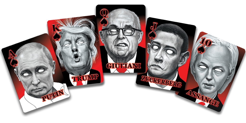 Royal Flush Hand - Trumps Raw Deal